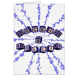 Rockin N Rollin toy blocks in blue Card