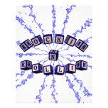 Rockin N Rollin toy blocks in blue Personalized Letterhead