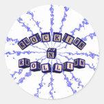 Rockin N Rollin toy blocks in blue Stickers