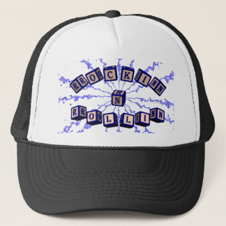 Rockin N Rollin toy blocks in blue Trucker Hat