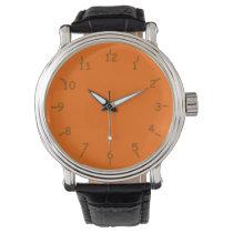 Rockin' Orange and Brown Wristwatch