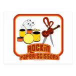 Rockin Paper Scissors Postcard