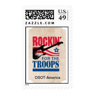 Rockin para las tropas sello