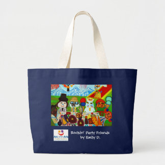 Rockin' Party Friends Large Tote Bag