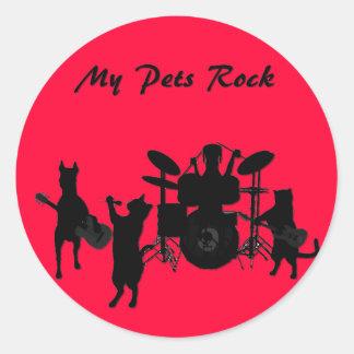 Rockin' Pet Round Sticker