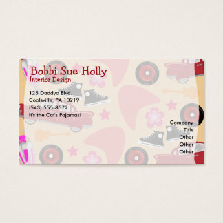 Rockin Pink Fifties Pattern Business Card