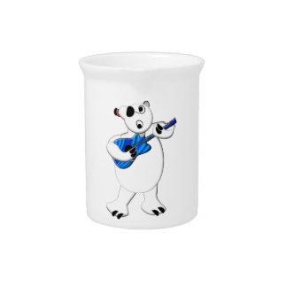 Rockin' Polar Bear with Guitar Drink Pitcher