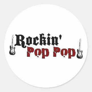 Rockin Pop Pop Classic Round Sticker