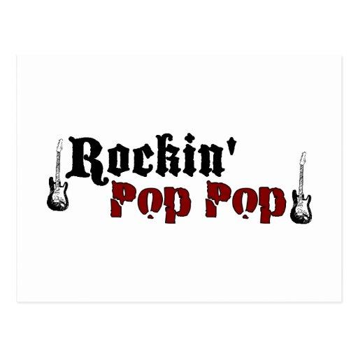 Rockin Pop Pop Postcard