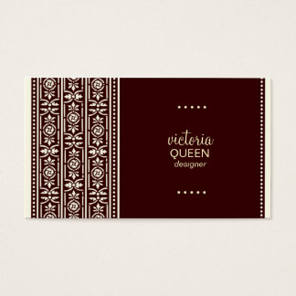 ROCKIN' QUEEN VICTORIA MAHOGANY BUSINESS CARD