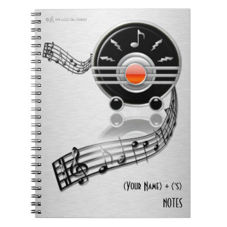 Rockin' Radio (Personalized Spiral Notebook)