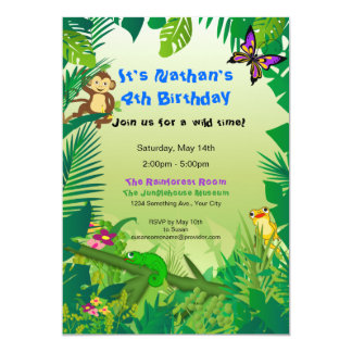 Rockin' Rainforest Birthday Invitation