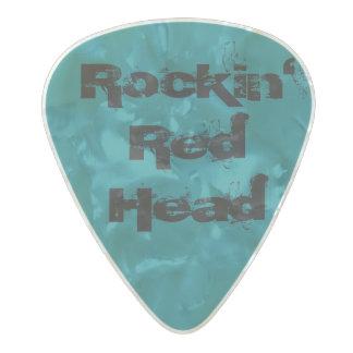 Rockin' Red Head Guitar Pick