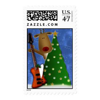Rockin Red Nose Reindeer postage