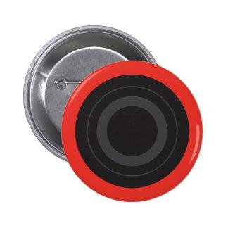 Rockin' Red Pop Art Roller Derby Wheel Button