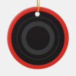 Rockin' Red Pop Art Roller Derby Wheel Ceramic Ornament