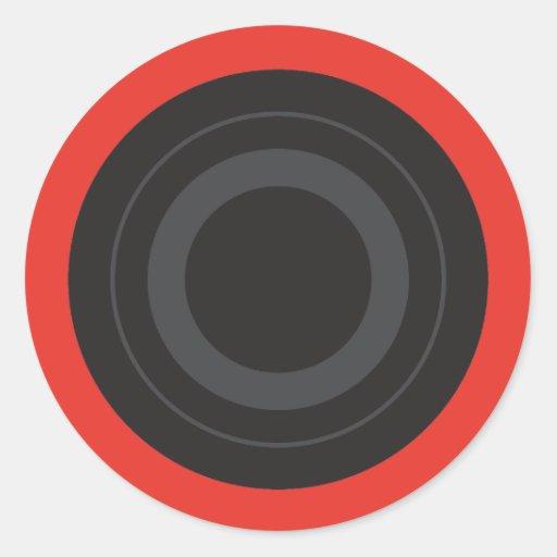 Rockin' Red Pop Art Roller Derby Wheel Classic Round Sticker