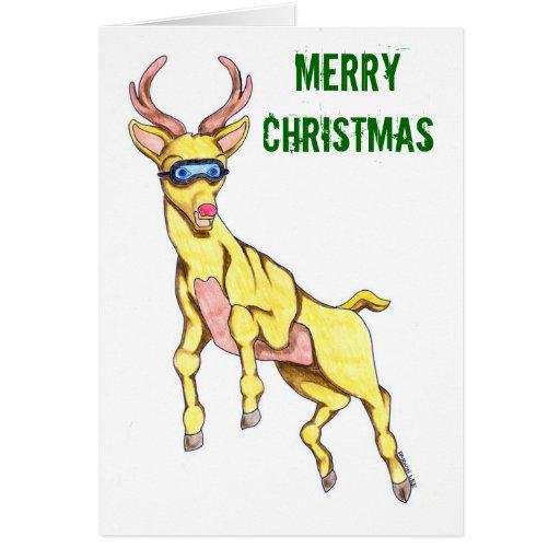 Rockin' Reindeer Christmas Card