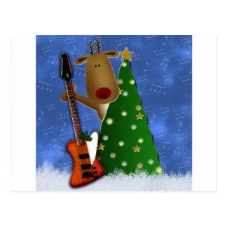 Rockin Reindeer Postcard