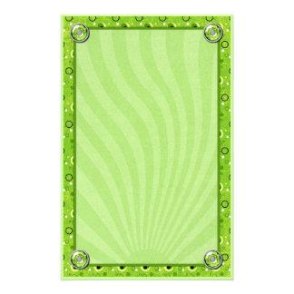 Rockin Retro Lime Green Decorated Design Stationery Design