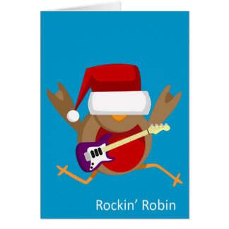 'Rockin' Robin' Christmas Greeting Card