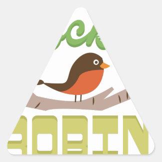 Rockin Robin Triangle Sticker