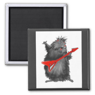 Rockin' Rodent 2 Inch Square Magnet