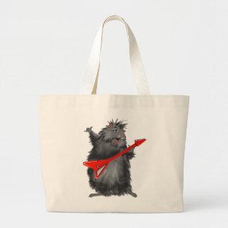 Rockin' Rodent Large Tote Bag