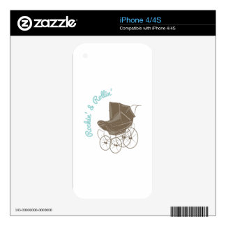 Rockin & Rollin Decal For iPhone 4