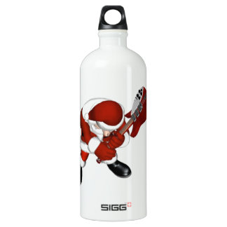 ROCKIN SANTA ALUMINUM WATER BOTTLE