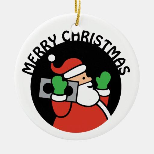 Rockin' Santa Christmas Ornament