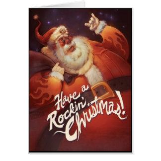 Rockin' Santa Claus Card