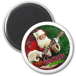 Rockin Santa Iman Para Frigorífico