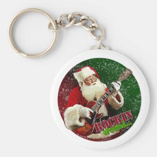 Rockin Santa Keychain