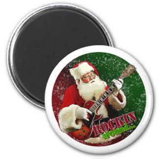 Rockin Santa Magnet