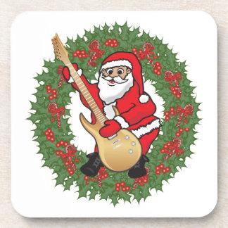 Rockin' Santa Skull Beverage Coaster