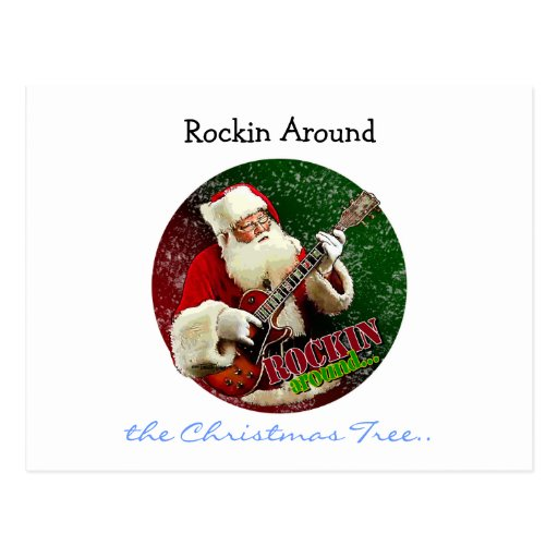 Rockin Santa Tarjeta Postal