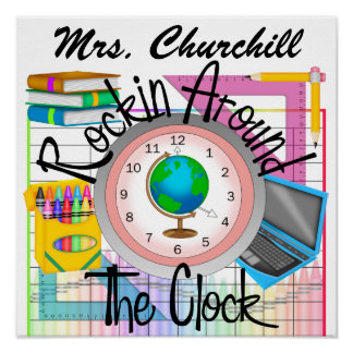 Rockin' School Teacher -  SRF Poster