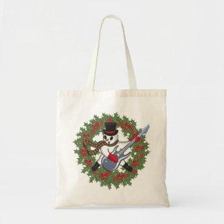Rockin' Snowman Budget Tote Bag