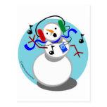 Rockin' Snowman Post Card