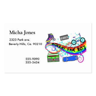 Rockin The 80s Business Card Templates