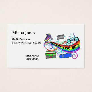Rockin The 80s Business Card