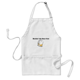 rockin the beer gut adult apron