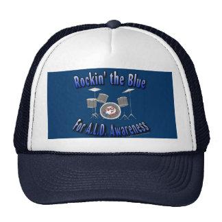 Rockin the Blue ALD AWARENESS Mesh Hats