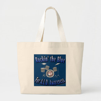 Rockin the Blue ALD AWARENESS Large Tote Bag