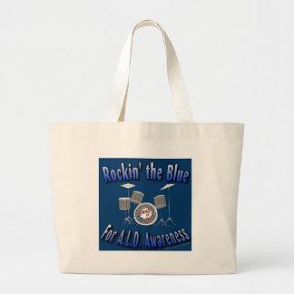 Rockin the Blue ALD AWARENESS Large Tote Bag