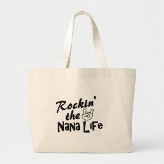 Rockin' the Nana Life tshirts and gifts Large Tote Bag