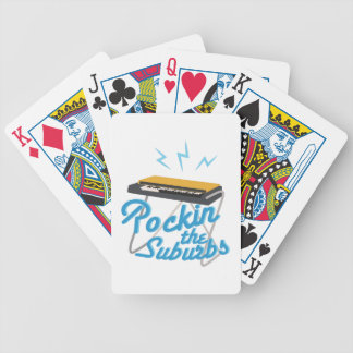 Rockin The Suburbs Bicycle Playing Cards