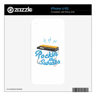 Rockin The Suburbs Decal For iPhone 4