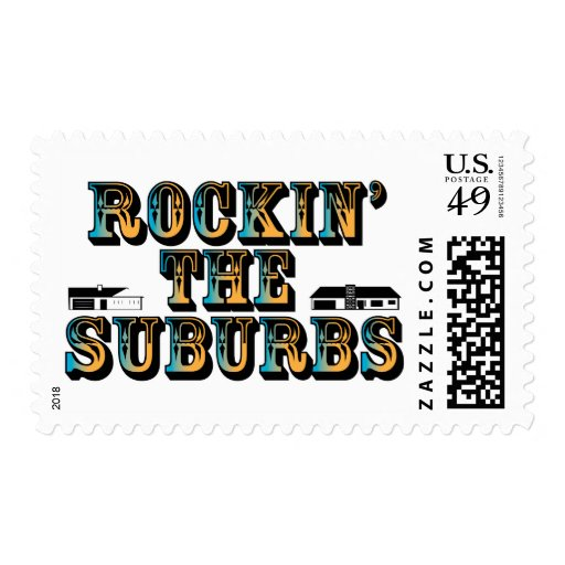 Rockin the Suburbs Postage Stamp
